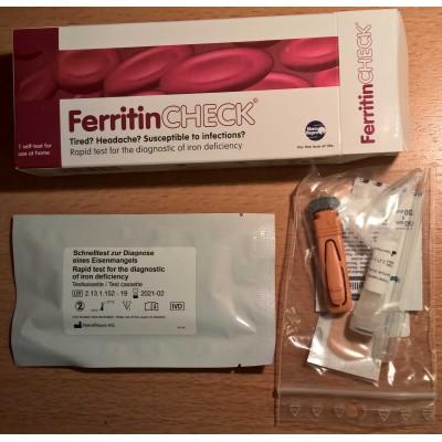 Nano Repro Ferritin test - domáci test  hladiny železa