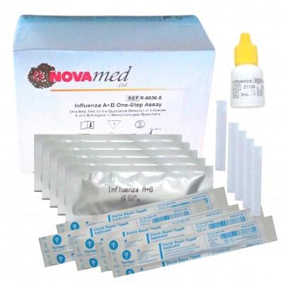 Novamed CHRÍPKA A + B One Step Assay - domáci test na chrípku 5 ks
