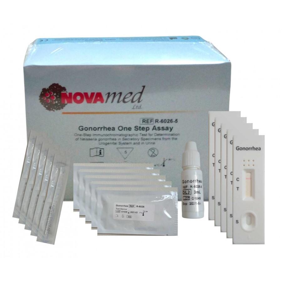 Novamed Gonorrhea test - domácí test na kapavku - 5ks