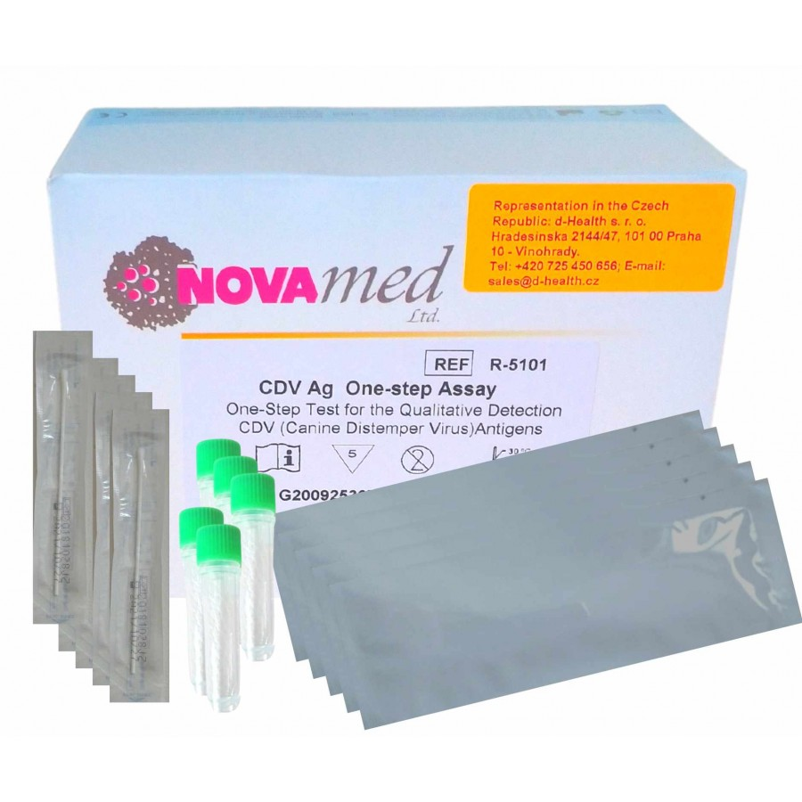 Novamed CDV Ag One-step Assay - test k detekci psinky - 5 ks