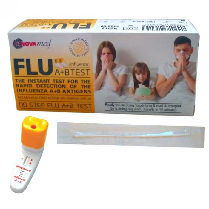 Novamed No Step FLU A+B Test - domácí test na chřipku